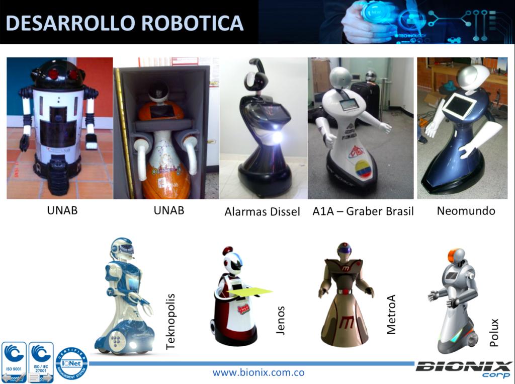 Modelos de robots BIONIX Colombia